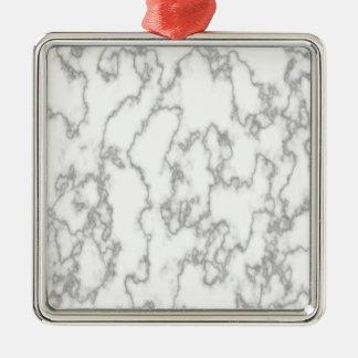 Marmor Quadratisches Silberfarbenes Ornament