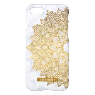 Marmor-und GoldMandala-Spitze-Muster iPhone 8/7 Hülle