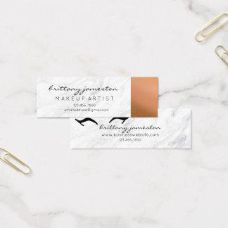 Marmor- und kupferne Maskenbildner-Visitenkarten Mini Visitenkarte