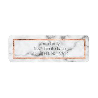 Marmor- und RosengoldRücksendeadresseaufkleber