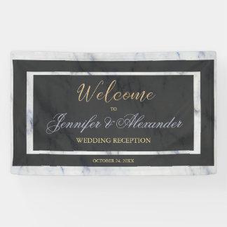 Marmor-Willkommenshochzeit des eleganten Banner