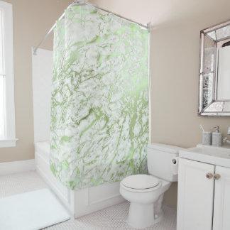 Marmorabstraktes weißes tadelloses Steingrün Duschvorhang