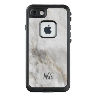 Marmorblick MONOGRAMM IHRE NAMENSbeschaffenheit LifeProof FRÄ' iPhone 8/7 Hülle