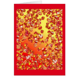 Marmorflecken-Kunst-Karte - hohe rote multi Karte