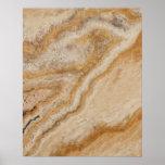 Marmorhintergrund-Stein-Schablone TAN natürlich Poster
