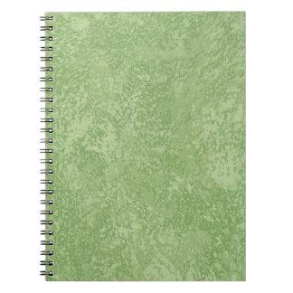 Marmorino grünes Imitat-Ende Notizblock