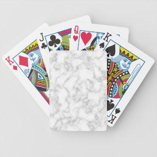 Marmormuster-graues Weiß-gemarmorter Bicycle Spielkarten