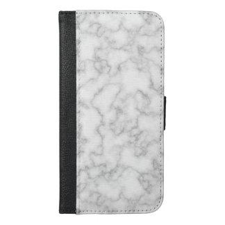 Marmormuster-graues Weiß-gemarmorter iPhone 6/6s Plus Geldbeutel Hülle
