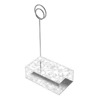 Marmormuster-graues Weiß-gemarmorter Platzkartenhalter