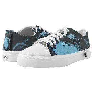 Marmormuster-Turnschuh Niedrig-geschnittene Sneaker