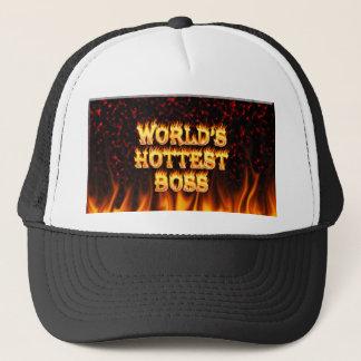 Marmorn heißestes Cheffeuer der Welt und Truckerkappe