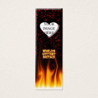 Marmorn heißestes das Großbritannien-Feuer der Mini Visitenkarte