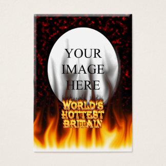 Marmorn heißestes das Großbritannien-Feuer der Visitenkarte