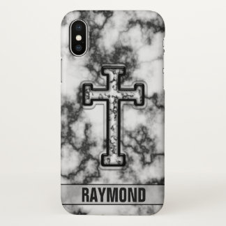 Marmorquergewohnheit iPhone X Hülle