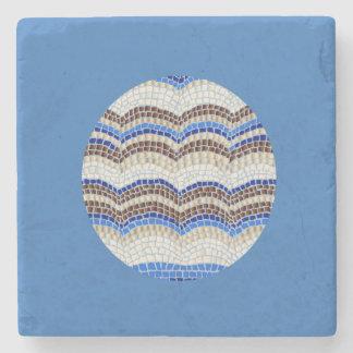 MarmorsteinUntersetzer mit blauem Mosaik Steinuntersetzer