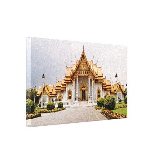 Marmortempel des Goldes über Khmer-Löwe Gespannte Galerie Drucke