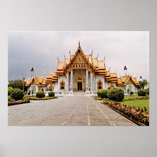 Marmortempel des Goldes über Khmer-Löwe-Plakat Poster