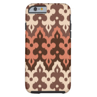 Marokkaner Ikat Damast, Brown, Taupe u. Rost Tough iPhone 6 Hülle