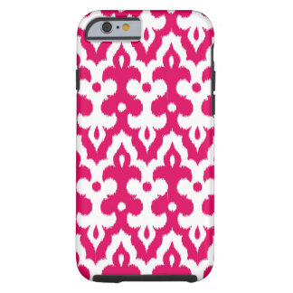 Marokkaner Ikat Damast-Muster, pinkfarbenes rosa Tough iPhone 6 Hülle