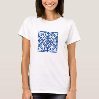 Marokkanische Fliese - Kobaltblau und -WEISS T-Shirt