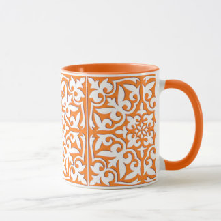 Marokkanische Fliese - korallenrote orange und Tasse