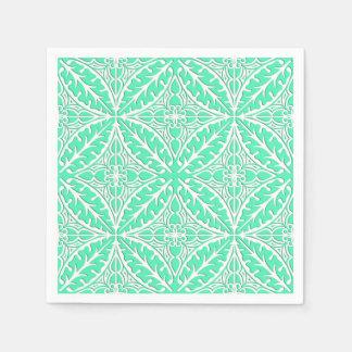 Marokkanische Fliesen - Eiblau und -WEISS des Papierserviette