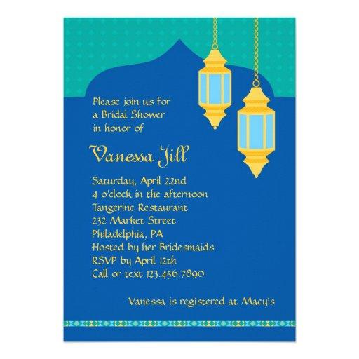 Marokkanische Laternen-Brautparty-Einladung