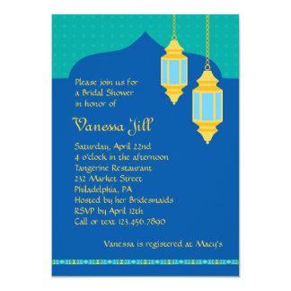 Marokkanische Laternen-Brautparty-Einladung 12,7 X 17,8 Cm Einladungskarte