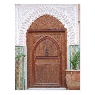 Marokkanische Tür Postkarte
