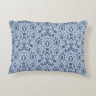 Marokkanischer blaues Grau Casbah Damast Zierkissen