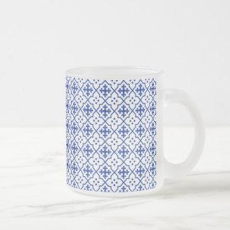Marokkanisches Blau Mattglastasse