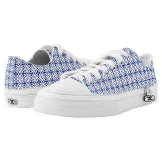 Marokkanisches Blau Niedrig-geschnittene Sneaker