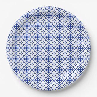 Marokkanische teller Pappteller blau