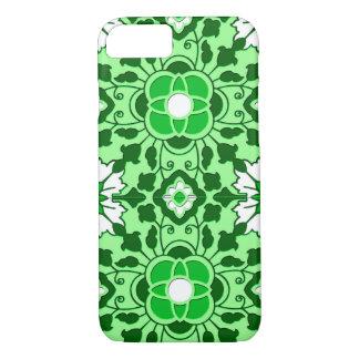Marokkanisches Fliesen-, Smaragd- und Limonesmit iPhone 8/7 Hülle