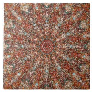 Marokkanisches Mandalamuster in den Keramikfliese