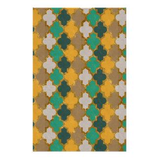 Marokkanisches Muster Bedrucktes Papier