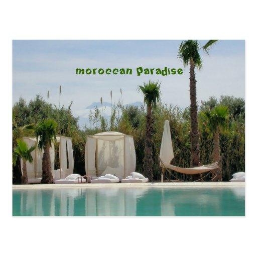 marokkanisches Paradies Postkarte