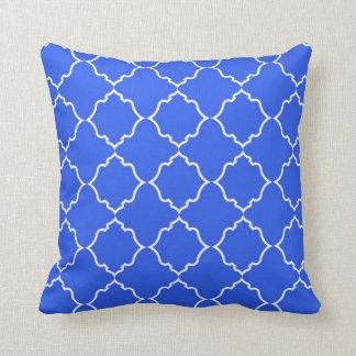 Marokkanisches Pfau-Blau Kissen