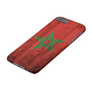 Marokko-Flagge auf altem hölzernem Korn Barely There iPhone 6 Hülle
