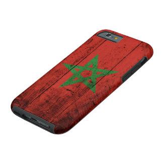 Marokko-Flagge auf altem hölzernem Korn Tough iPhone 6 Hülle