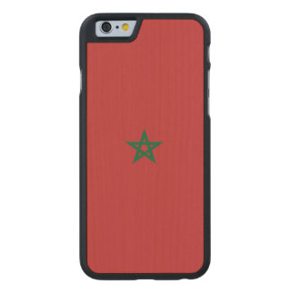 Marokko-Flagge Carved® iPhone 6 Hülle Ahorn