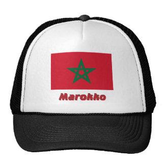 Marokko Flagge MIT Namen Truckerkappen