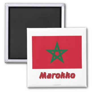 Marokko Flagge MIT Namen
