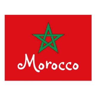 Marokko-Flagge Postkarte