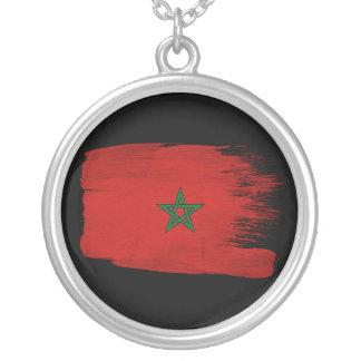 Marokko-Flagge Versilberte Kette