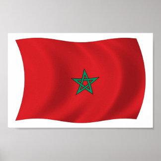 Marokko-Flaggen-Plakat-Druck Poster