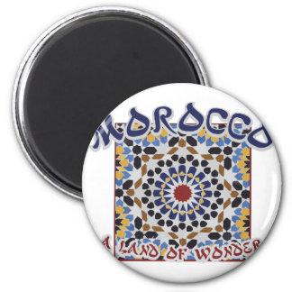 Marokko-Land des Wunders Runder Magnet 5,7 Cm