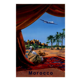 Marokko-Reiseplakat Poster