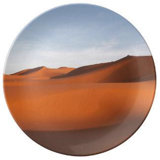 Marokko-Sandwüste, nordwestliches Afrika Porzellanteller