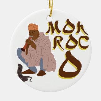 Marokko-Schlangenbeschwörer Keramik Ornament